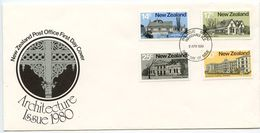 New Zealand 1980 Scott 707-710 FDC Early Architecture - FDC