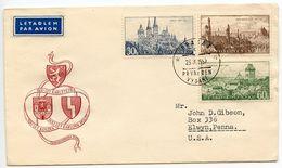 Czechoslovakia 1957 Scott 785/788 FDC Towns & Architecture - FDC