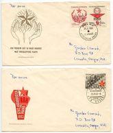 Czechoslovakia 1963 Scott 1156-1158 2 FDCs Victorious February & Trade Union - FDC