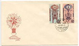 Czechoslovakia 1963 Scott 1187-1188 FDC Brno International Trade Fair - FDC