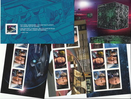 = STAR TREK = FAMOUS TV SHOW CHARACTERS  Full Set Of 5 Souvenir Sheets From Prestige Booklet, MNH Canada 2017 - Space