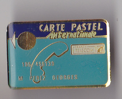 PIN'S THEME FRANCE ELECOM  CARTE PASTEL - France Telecom