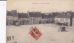 BEAUNE 21 LA PLACE MADELEINE ROULOTTE  BELLE CARTE RARE !!! - Beaune