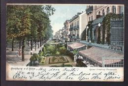 CPA ALLEMAGNE - HOMBURG V. D. Höhe - Kaiser Friedrich-Promenade TB PLAN Avec Terrasse Restaurant Animation TB Verso 1904 - Autres