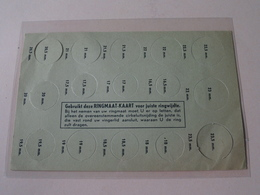 Gebruikt Deze RINGMAAT-KAART Voor Juiste Ringwijdte ( Oud Dokument  / Zie/voir Foto Voor/pour Détails ) ! - Matériel