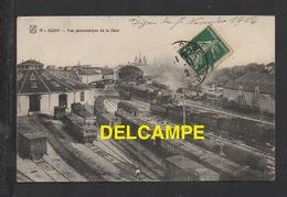 DD / CHEMINDE FER / VUE PANORAMIQUE DE LA GARE DE DIJON ET DES TRAINS / CIRCULÉE EN 1912 - Stations With Trains