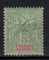 NOUVELLE CALEDONIE       N°  YVERT    59    ( 5 )      OBLITERE       ( O   3/37 ) - Oblitérés