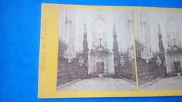 Photo Stéréoscopique Cathédrale Amiens - Stereoscopic