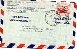 Lettre De L'UNITED STATES DEPARTEMENT OF AGRICULTURE Adressé En Allemagne à Baden - Baden - Etats-Unis