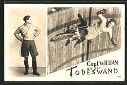 CPA Radakrobat Capt. William An Der Todeswand - Cartes Postales