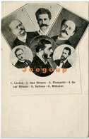 Postale Collage Art Musiciens Compositeurs Lecocq Strauss Planquette Sullivan Millöcker - Music And Musicians