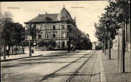 Cp Offenburg Am Schwarzwald, Partie A. D. Hauptsraße, Restaurant Reichspost, Pferdefuhrwerk - Autres