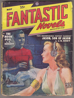 C1 FANTASTIC NOVELS 05 1948 SF Pulp LAWRENCE Abraham MERRITT Giesy FINLAY Paul - Sciencefiction