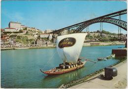Porto - O Douro : Barco Rabelo E Vista Pacial Da Cidade -  (Portugal) - Porto