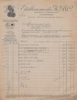 75 20 600 PARIS SEINE 1935 Confiserie KBO  - K.B.O Succ LANDRIEUX Rue Des Rosiers SIROP DE CALABRE BONTRON A ABEGY - France
