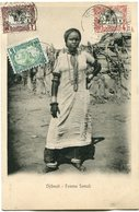 COTE FRANCAISE DES SOMALIS CARTE POSTALE  DE DJIBOUTI (IMPRIME) -FEMME SOMALI DEPART DJIBOUTI 30 DEC 05 POUR DJIBOUTI - Lettres & Documents