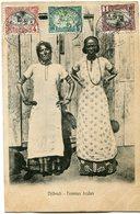COTE FRANCAISE DES SOMALIS CARTE POSTALE  DE DJIBOUTI (IMPRIME) -FEMMES ARABES DEPART DJIBOUTI 30 DEC 05 POUR DJIBOUTI - Lettres & Documents