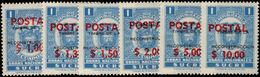 Ecuador 1970 Public Works Fiscal POSTAL Set Unmounted Mint. - Ecuador