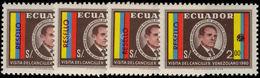 Ecuador 1969 Unissued Stamps Surcharged Set Unmounted Mint. - Ecuador