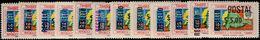 Ecuador 1969 Revenue Stamps Surcharge Set Unmounted Mint. - Ecuador