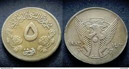SUDAN - 5 Ghirsh - 1983 - KM 110.1 - Soudan