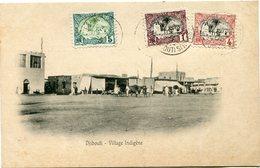 COTE FRANCAISE DES SOMALIS CARTE POSTALE  DE DJIBOUTI (IMPRIME) VILLAGE INDIGENE DEPART DJIBOUTI 30 DEC 05 POUR DJIBOUTI - Côte Française Des Somalis (1894-1967)