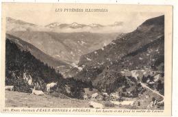 ***  34  ***  Route Thermale D'Eaux Bonnes Les Lacets  Au Fond La Vallée De Laruns - Timbrée TTB - Eaux Bonnes