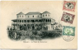 COTE FRANCAISE DES SOMALIS CARTE POSTALE  DE DJIBOUTI (IMPRIME) -LE PALAIS DU GOUVERNEUR DEPART DJIBOUTI 30 DEC 05 - Lettres & Documents