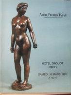 Catalogue De Ventes Ader-Tajan - Tableaux Céramiques- 1991 - Vieux Papiers