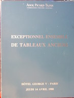 Catalogue De Ventes Ader-Tajan - Tableaux Anciens - 1988 - Vecchi Documenti