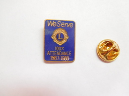 Beau Pin's , Association Lions Club , WeServe , 100% Attendance - Associations