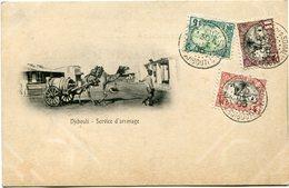 COTE FRANCAISE DES SOMALIS CARTE POSTALE  DE DJIBOUTI -SERVICE D'ARROSAGE DEPART DJIBOUTI 30 DEC 05 POUR DJIBOUTI - Côte Française Des Somalis (1894-1967)