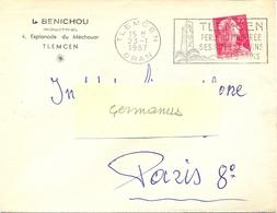 ALGERIE TLEMCEN ORAN OM SECAP 23-1-1956  ... / PERLE DU MOGHREB / SES SITES SES VINS / SES TAPIS - Lettres & Documents