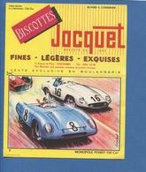 Biscotte Jacquet Buvard Voiture Automobile Course Monopole Poissy 750 Cm³ Illustration Dagobert Imp Armoricaine Nantes - Automotive