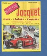 Biscotte Jacquet Buvard Voiture Automobile Course Lancia Illustration Dagobert Imp Armoricaine Nantes - Automotive