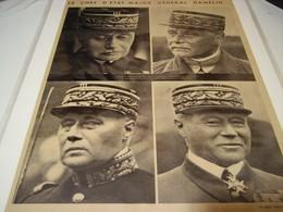 AFFICHE PHOTO  CHEF D ETAT MAJOR GENERAL GAMELIN 1939 - 1939-45