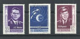RUMANIA  YVERT  AEREO  157/59   MNH  ** - Aéreo