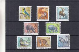 République Démocratique - Yvert 1711/18 ** - MNH - Perroquets - Singes - Hippopotammes - Phoques - Tigres - Zèbres - Rhinozerosse