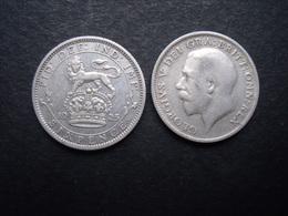 GRANDE BRETAGNE  = UNE PIECE  DE 6 PENCES 1925 EN ARGENT - H. 6 Pence