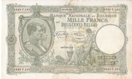 Billet 99b - 1000 Francs Ou Deux Cents Belgas - [ 2] 1831-... : Belgian Kingdom