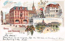 67 Haguenau - Lithografie - Hotel Zur Traube 1902 - Haguenau
