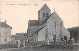 CPA, Marigny-en-Orxois 02810 L' église - Sonstige Gemeinden