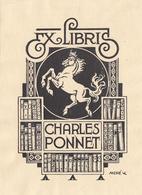 EX-LIBRIS  CHARLES PONNET - Ex-libris