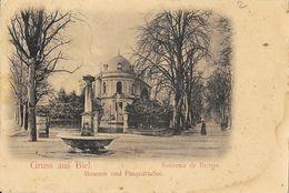 Gruss Aus Biel, Souvenir De Bienne - Museum Und Pasquartallee - Carte Dos Simple - BE Berne