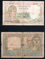 France, Lot De 2 Billets - 1871-1952 Circulated During XXth
