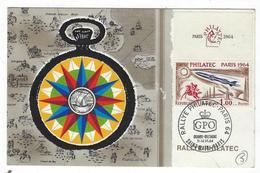 1964 CARTE RALLYE PHILATEC SAINT MALO-PARIS - Postmark Collection (Covers)