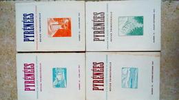 PYRENEES - N° 29-30-31-32 - Année 1957   - 4x REVUE TRIMESTRIEL  - Musée Pyreneen Du Chateau-fort De Lourdes - Toerisme En Regio's