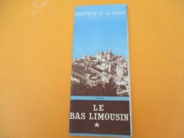 Plan Touristique De La CORREZE/Découverte De La France / Le Bas Limousin/ESSI/Conseil Général/ Vers 1950          PGC202 - Geographische Kaarten