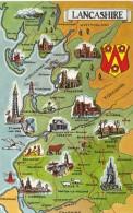 MAP CARD -LANCASHIRE - Maps
