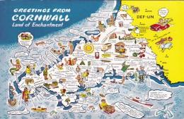 MAP CARD -CORNWALL - Maps